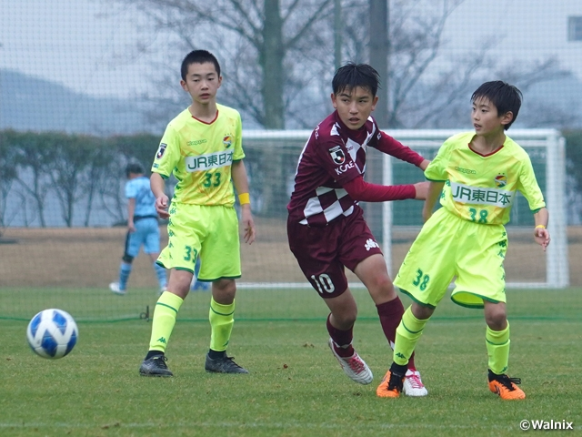 Quarterfinal fixtures determined at the JFA 44th U-12 Japan Football Championship