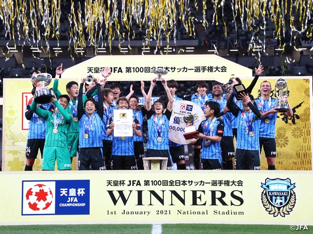 Kawasaki Frontale showcase their signature attacking football to claim the title at the Emperor's Cup JFA 100th Japan Football Championship
